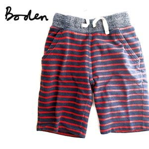 Mini Boden red/navy stripe shorts; baggy style 8Y